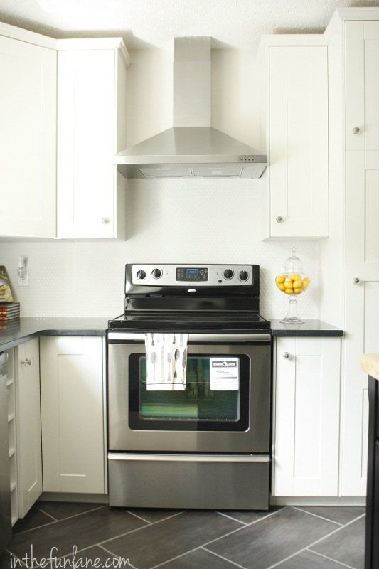 granite counters off white cabinets kitchen remodel ikea cabinets and