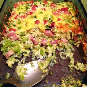 Broccoli, Ham & Mozzarella Egg Bake | Dinner Ideas | Pinterest