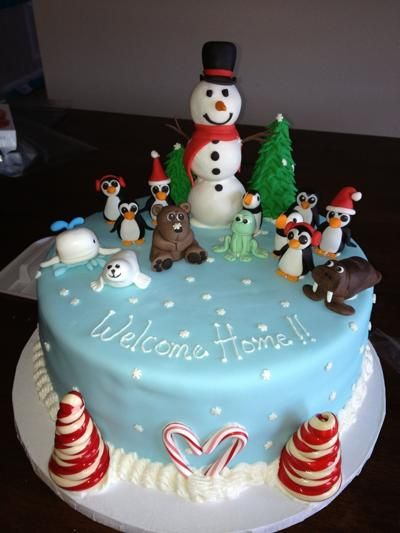 Decorating Ideas > Christmas  Cake Decorating Ideas  Cake  Pinterest ~ 033100_Christmas Decorating Cake Ideas