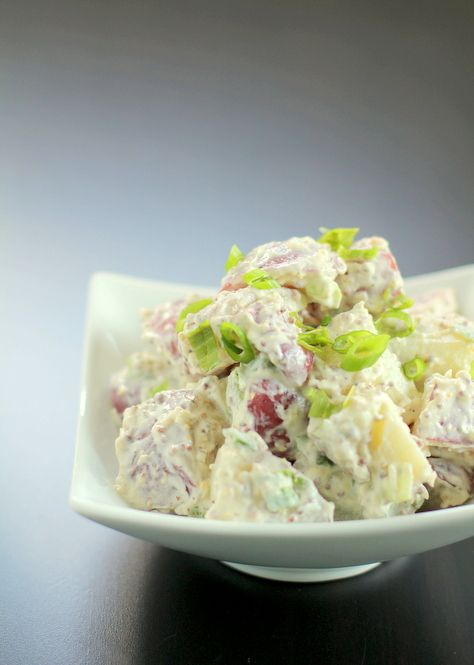 Red Potato Salad with Garlic and Whole Grain Mustard