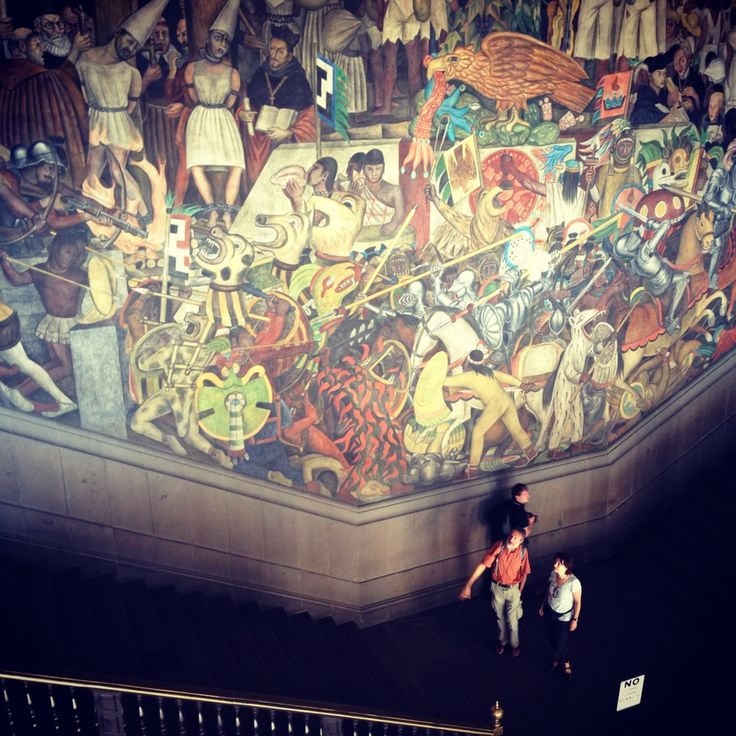 Pin by helen anne travis on secrets of mexico city pinterest for Diego rivera s most famous mural