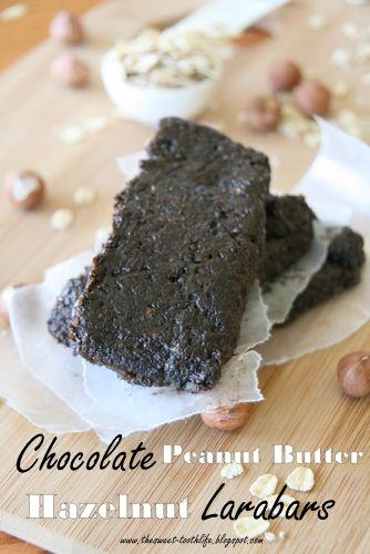 Chocolate Peanut Butter Hazelnut Larabars (minus the hazelnuts)