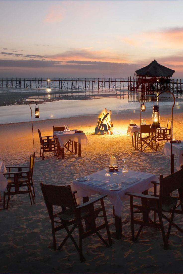 Romantic beach dinner - Fundu Lagoon, Pemba Island, Zanzibar, Tanzania.