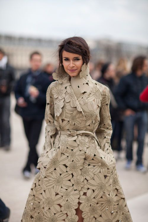 Valentino coat worn at Paris Fashion Week