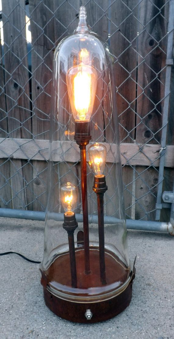 Edison desk lamp with glass dome Table For Three