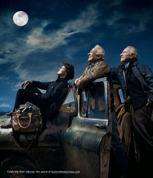 Astronauts Sally Ride, Aldrin, and Lovell by Annie Leibovitz