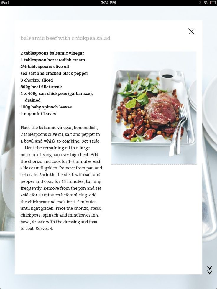 Balsamic beef with chickpea salad | Mains: Lamb and Beef | Pinterest