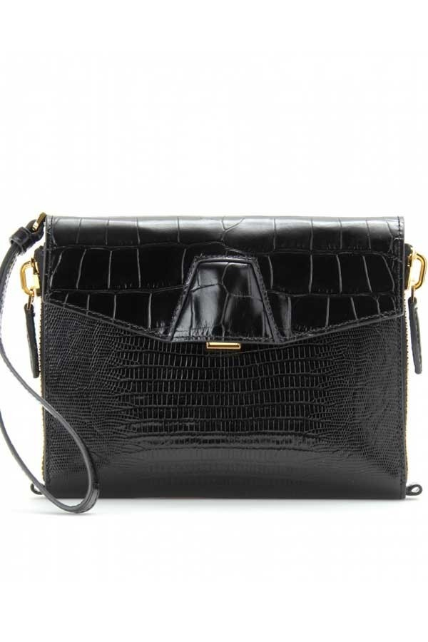 Hampden Clothing - Lydia Black Croc Bag, $650.00 (http://shop