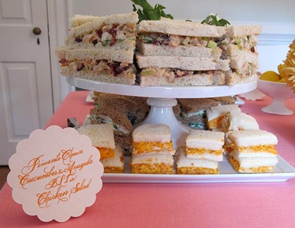 baby shower sandwiches recipes pinterest