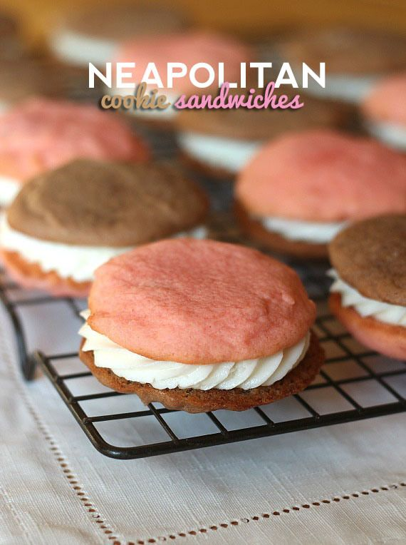 Neapolitan Cookie Sandwiches – A sweet dessert duplicate of your ...