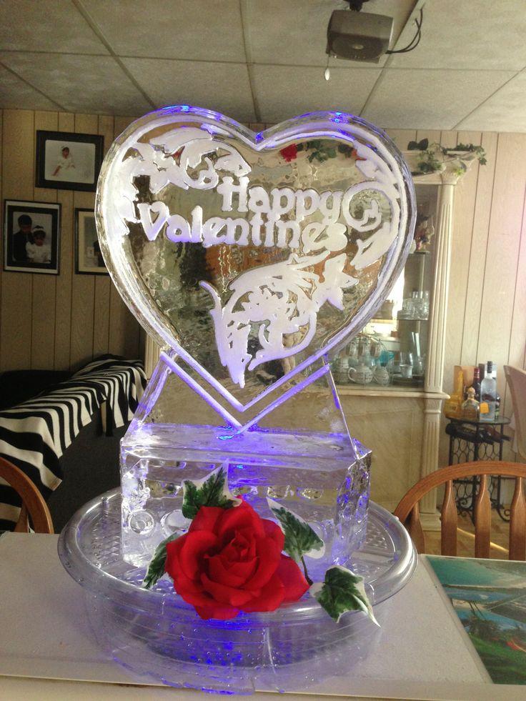 Valentine table centerpiece ice sculpture pro pinterest
