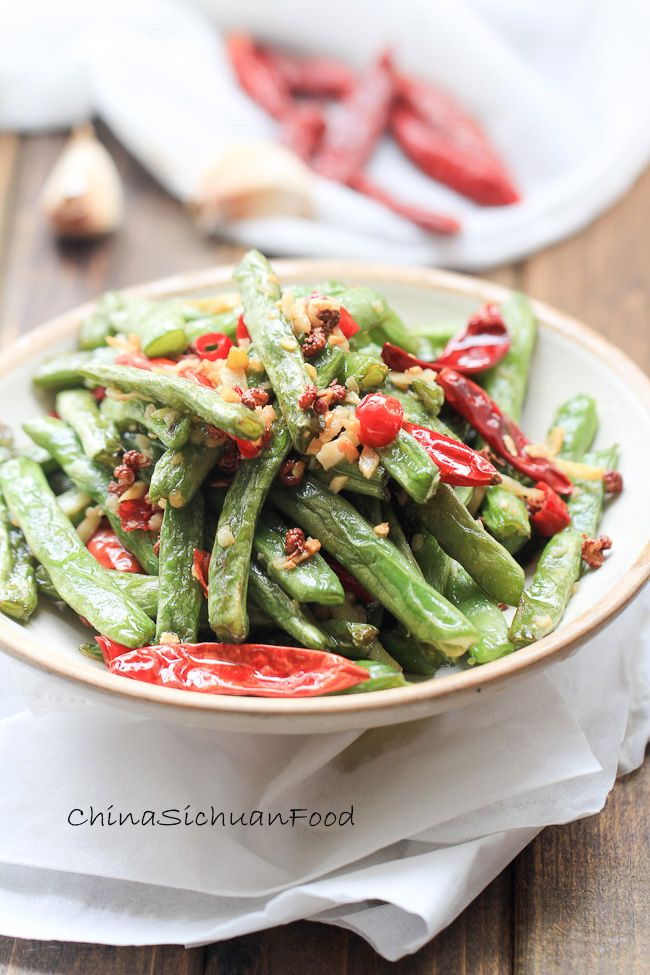 Dry-fried Green Beans-less oil version | Recipe