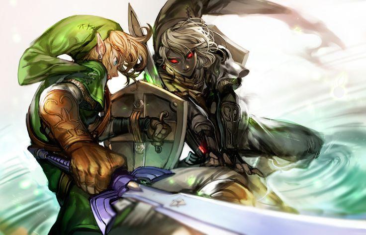 Legend Of Zelda Dark Link Vs Link Link vs. Dark Link   L...