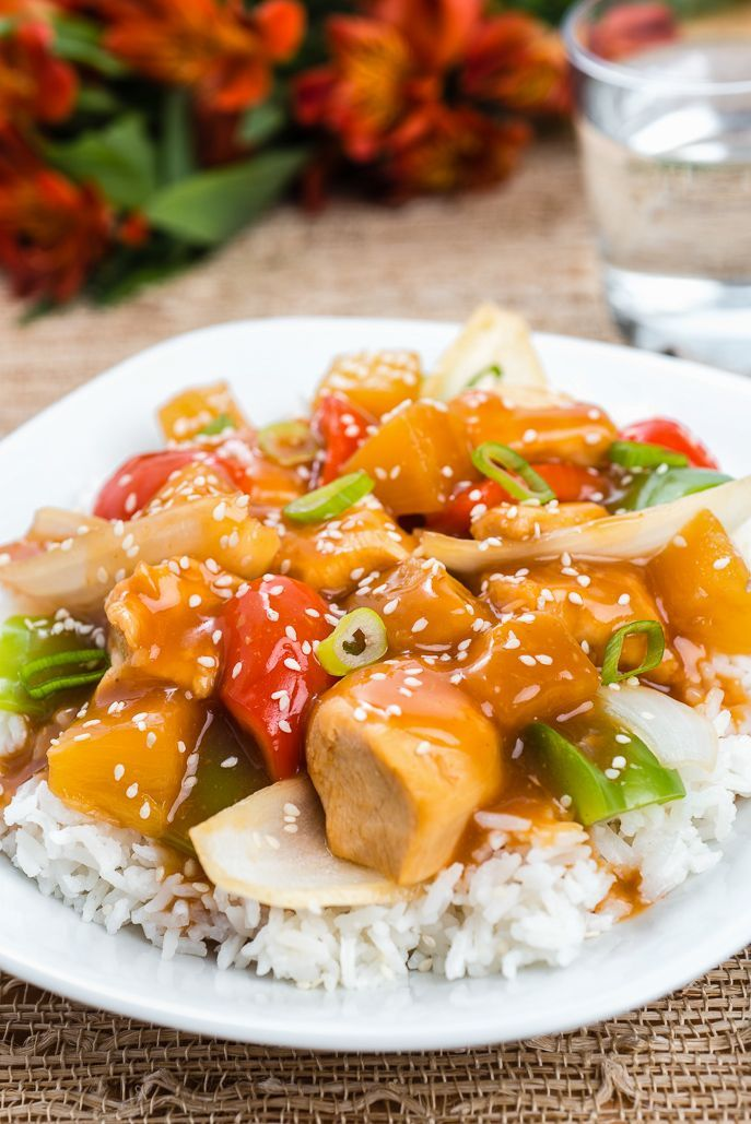 Easy Slow Cooker Sweet and Sour Chicken - easy and healthier Chinese ...