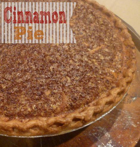 cinnamon pie | The Admiral Snackbar! | Pinterest