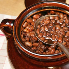 Baked Beans in a Crock Pot. Mom used to make these in her bean pot ...