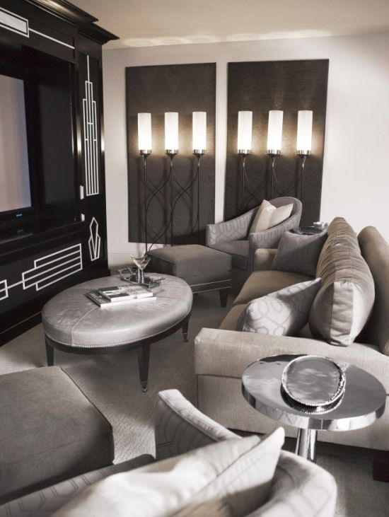 Media room old hollywood style decor pinterest for Old hollywood decor