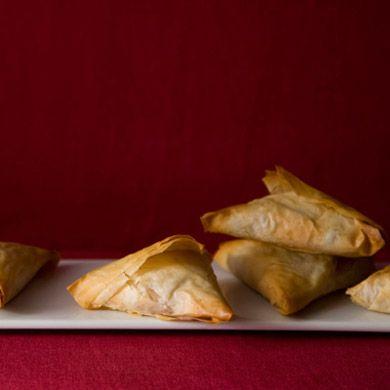 Potato Samosa Phyllo Triangles Recipe at Epicurious.com