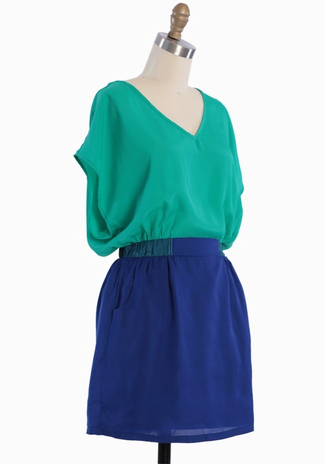 Modern dress 0 3 - Enchanting Stroll Colorblock Dress Modern Vintage Dresses