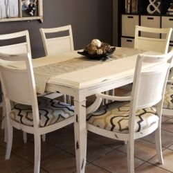 Chalk paint kitchen table redo for the home pinterest - Kitchen table redo ...
