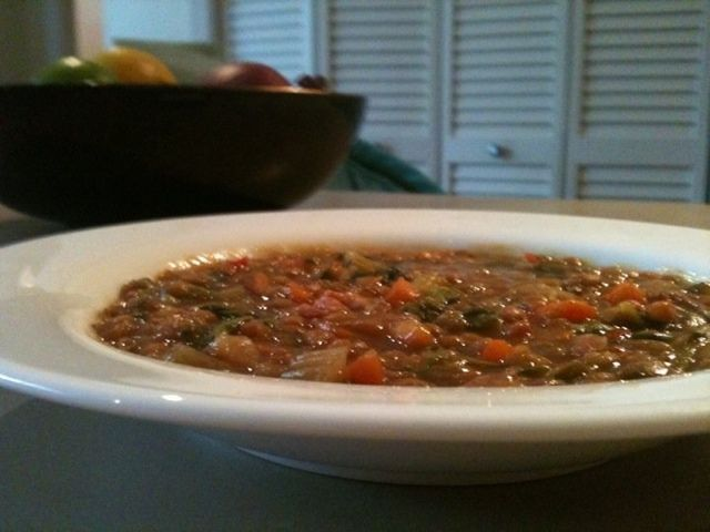 Ham and lentil soup from Deliciously Domestic Dining: Slow-Cooker ...