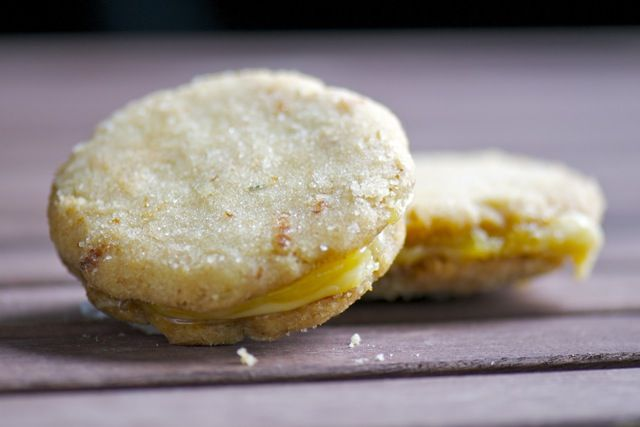 Rosemary Lemon Sandwich Cookies [Vegan]