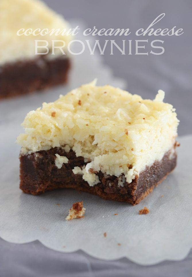 coconut-cream-cheese-brownies | Brownies and Bars | Pinterest