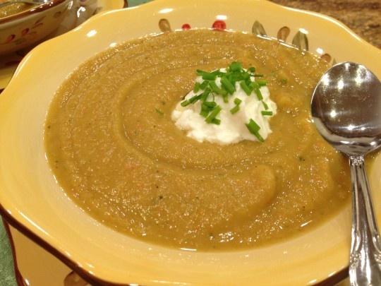 and Acorn Squash Soup - delicious vegan, gluten free, low calorie soup ...
