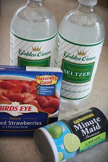 Sparkling Strawberry Limeade | Drinks/Slushy | Pinterest