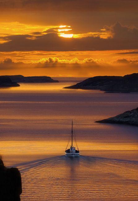 sail away into the sunset
