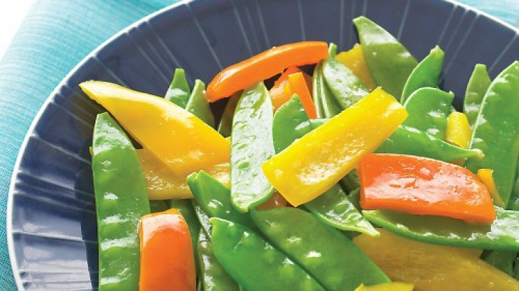 Ginger Snow Peas and Peppers | Vegetarian | Pinterest