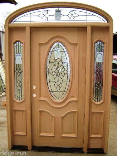3 4 oval solid mahogany wood front door sidelights