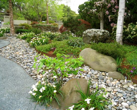 river rock in flower beds | Future Taylor Home Ideas | Pinterest