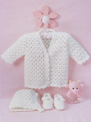 Knitting Patterns | Crochet free baby Patterns cardigan jacket, hat