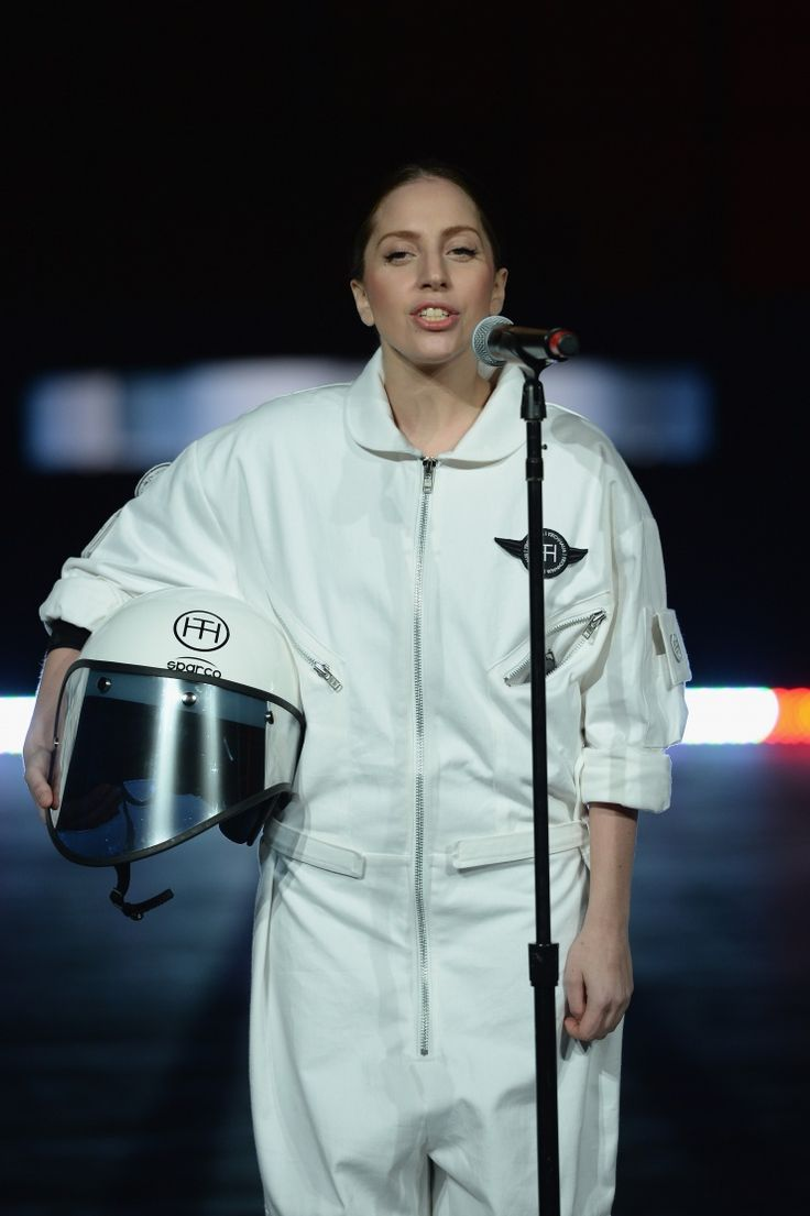 Space monster. Astronaut Lady Gaga unveils Volantis, the world's first flying dress, on Nov. 10 in New York