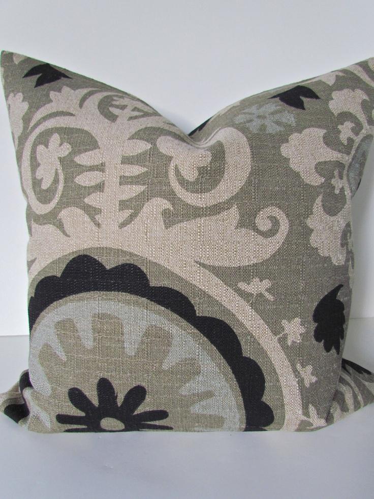 Decorative Pillows Covers 18x18 : PILLOW 18x18 Decorative Throw Pillow Covers 18 x 18 BLACK Ikat Throw