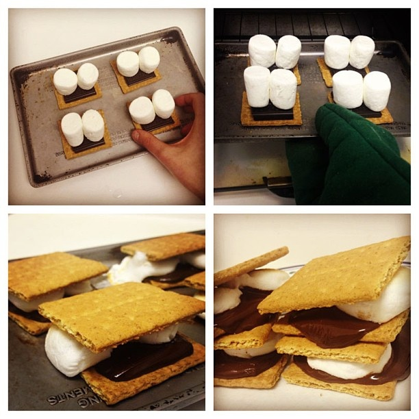 Oven baked s'mores | Recipes | Pinterest