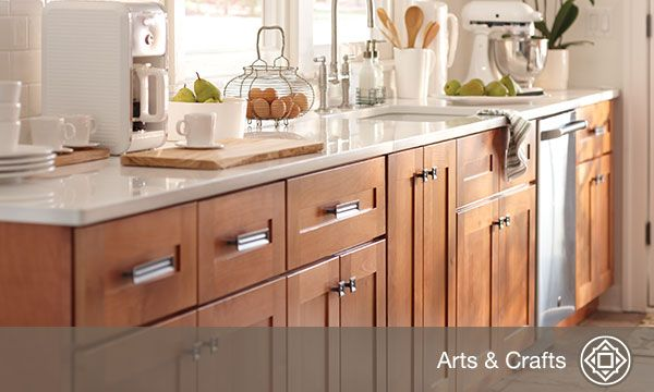 Love the warmth in these Hargrove Cinnamon cabinets Quick ship from