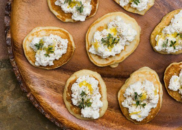 Smoked Salmon Silver Dollar Pancakes | eat and drink | Pinterest