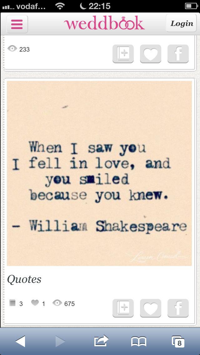 Shakespeare Wedding Quote. Super Cute.