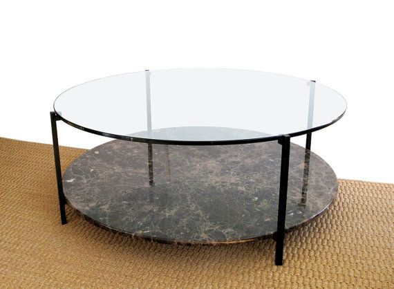 Arturo Round Marble And Glass Coffee Table