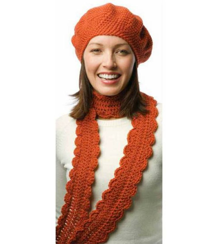 One-Skein Crochet Beret & Scarf Made by Hand Pinterest