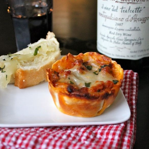 Lasagna Cupcakes | Food and Drink | Pinterest