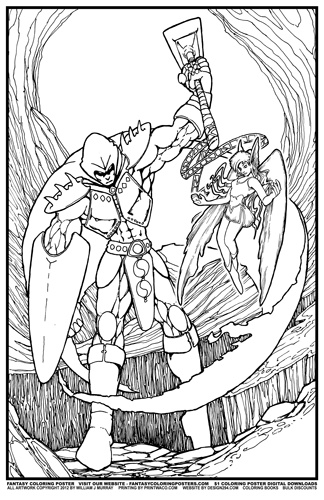 Warrior Princess Coloring Pages : Free coloring pages of warrior princess