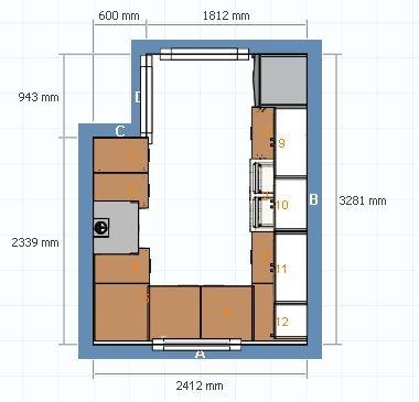 Plantegning kjøkken fra Ikea Planner.  Oppgave 7  Pinterest