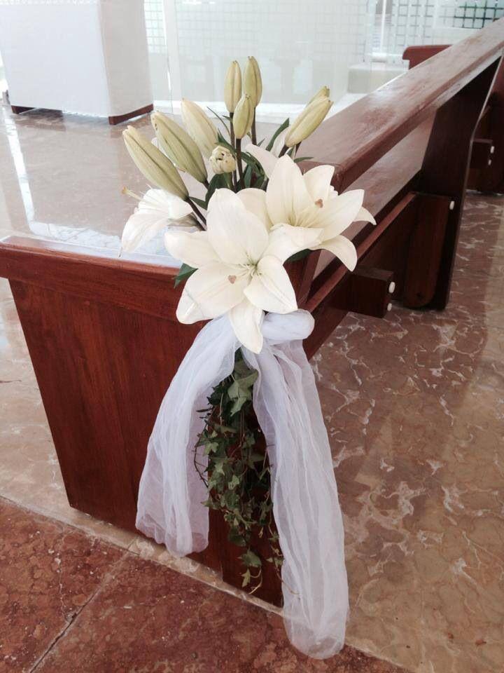 Decoracion Iglesia Para Primera Comunion ~   Corsage church Rivera maya wedding boda corsage iglesia  Pinterest