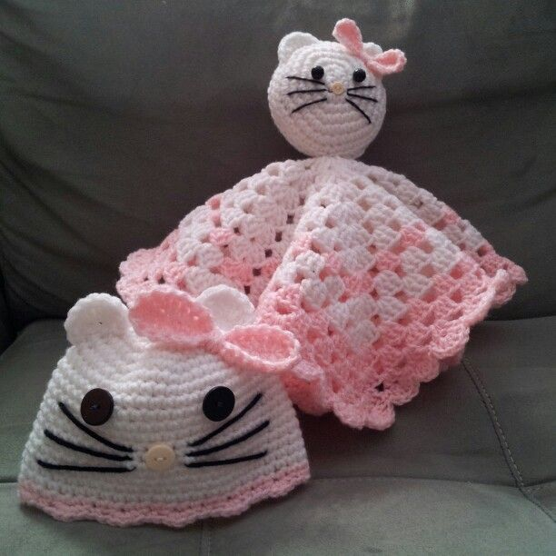 Crochet Pattern For Hello Kitty Baby Blanket : Pin by Lori Grimes on Baby crochet hats Pinterest
