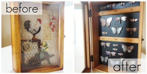 DIY Makeover: Butterfly Cabinet