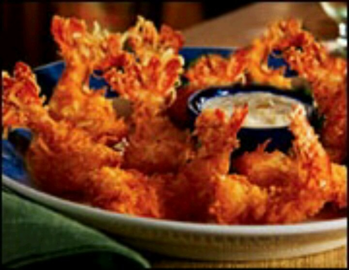 crunchy sweet coconut shrimp with pina coloda dippin' sauce from Red ...