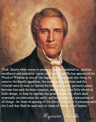 Hyrum Smith. Word of Wisdom.
